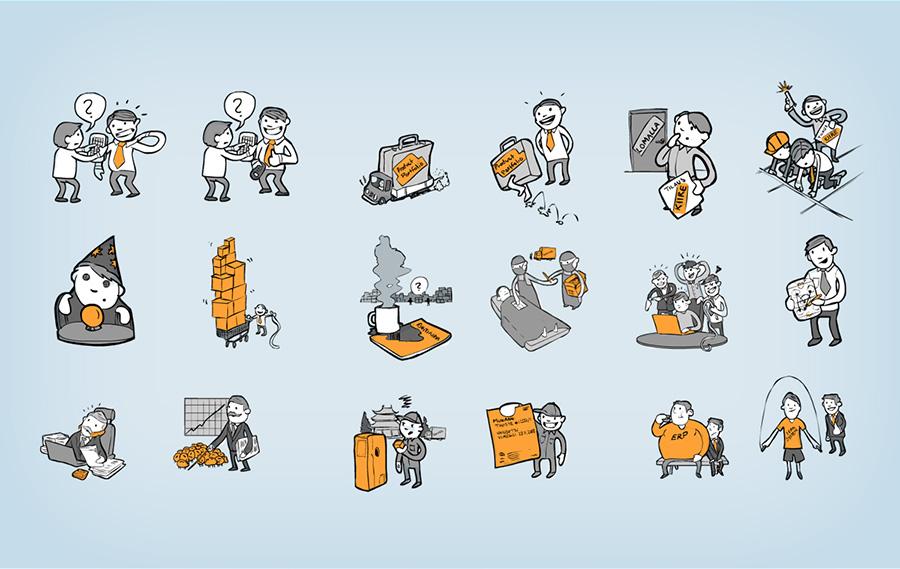 Kuvituksia / Illustrations Hahmosuunnittelu / Character Design